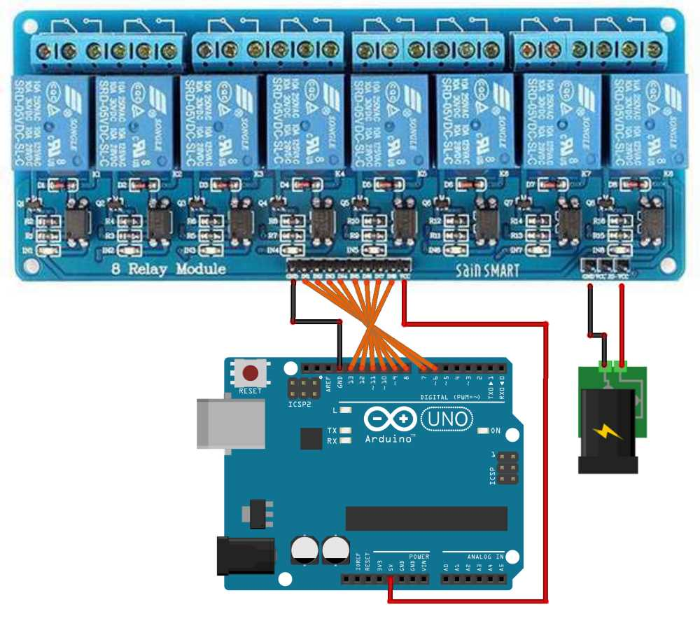 arduino relay. Black Bedroom Furniture Sets. Home Design Ideas