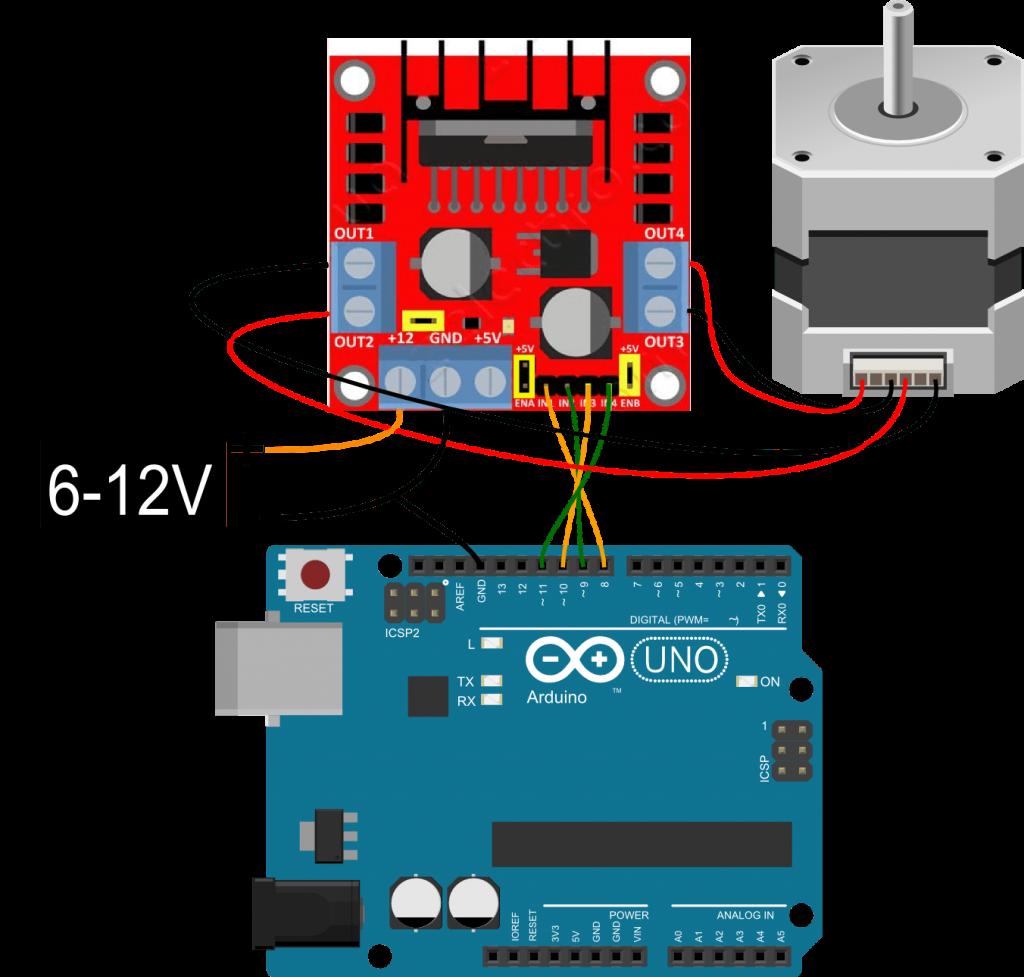 Шаговый двигатель биполярный и arduino