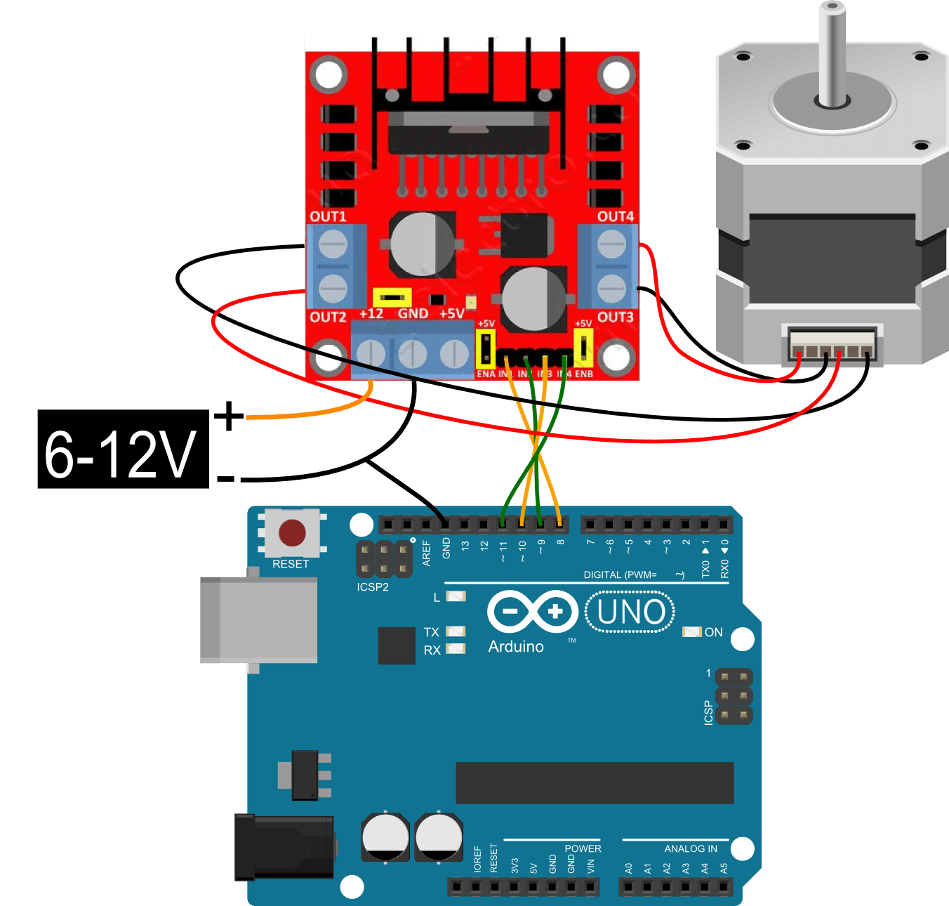 Arduino Stepper L N on arduino bipolar stepper motor circuit